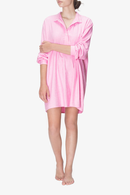 The Sleep Shirt Short Sleep Shirt Pink Everest Cotton