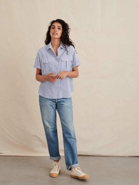 Alex Mill Safari Shirt - Blue/White Seersucker