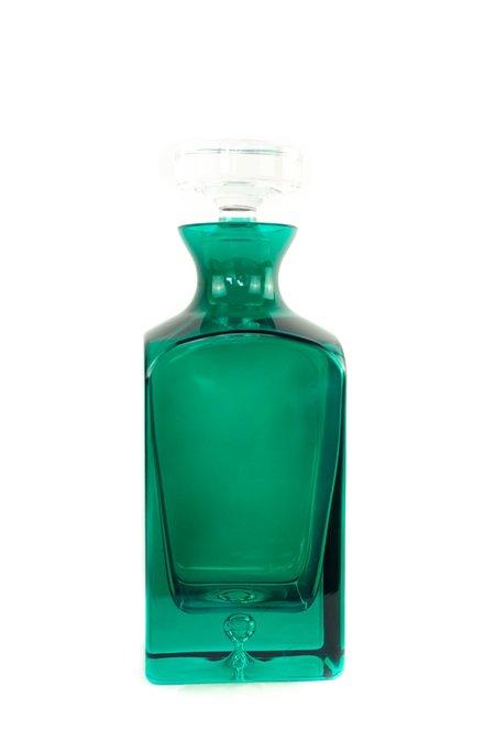Estelle Colored Glass Decanter - Emerald Green