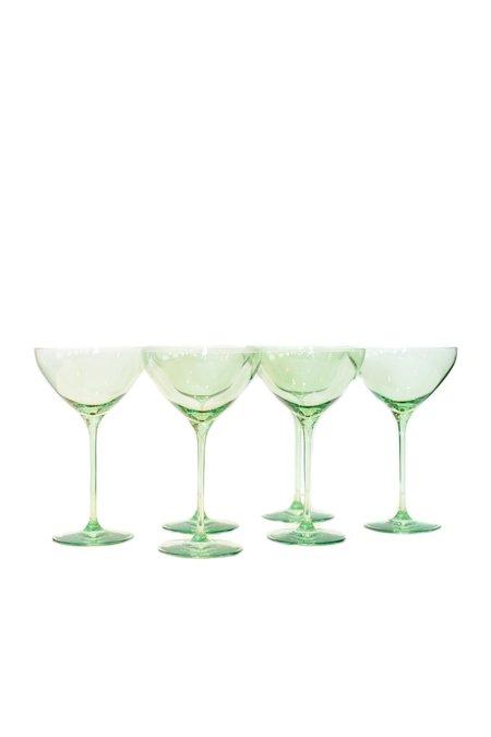 Estelle Colored Glass Martini Glasses - Mint