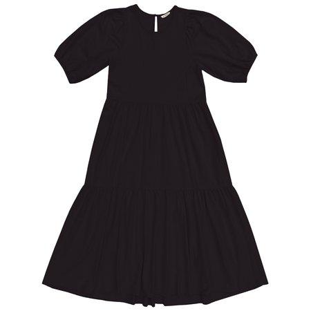 Ali Golden KNIT PARTY DRESS - BLACK