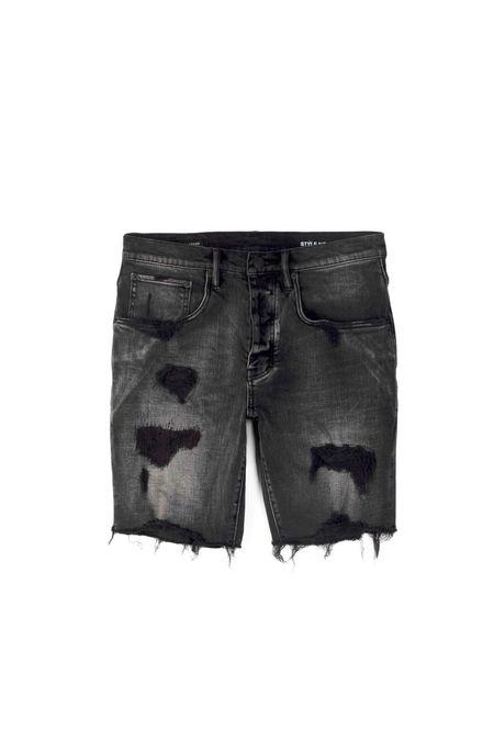 Purple Brand Repair Short - Black wash