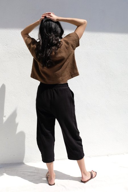 Stateside Saddle Sweat Pant - Black