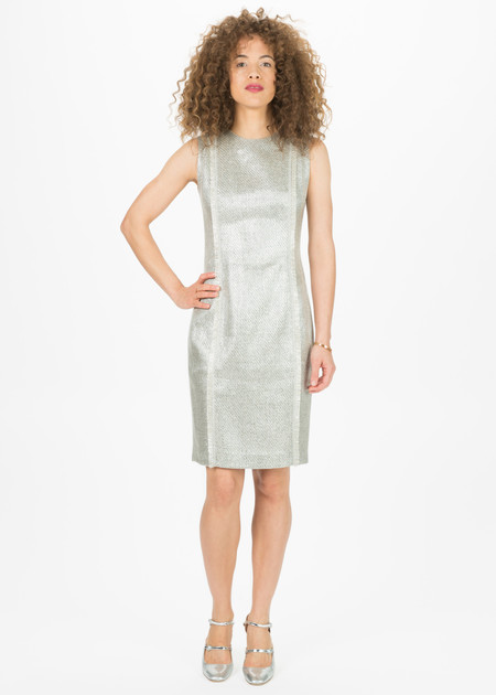 Amelia Toro Shimmer Tweed Fitted Dress