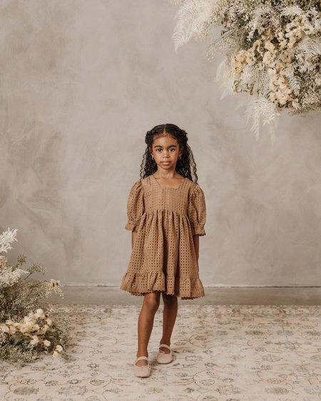 kids Noralee Check Quin Dress - Golden