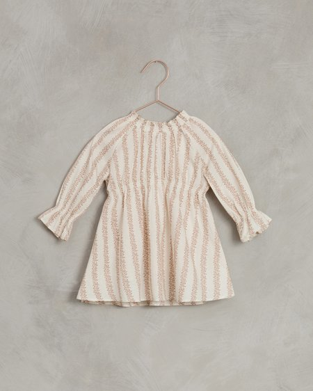 kids Noralee Striped Chloe Dress - peach