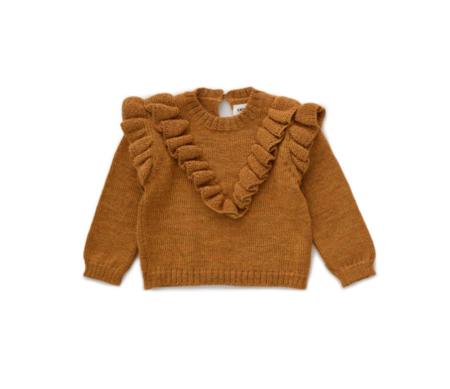KIDS Oeuf Frou Frou Sweater - Ochre