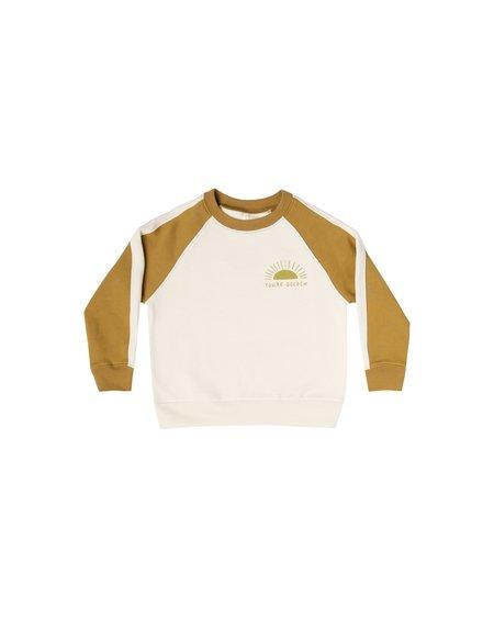kids Rylee + Cru You're Golden Raglan Sweatshirt - natural