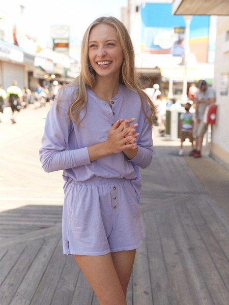 Donni. Henley Short - Purple