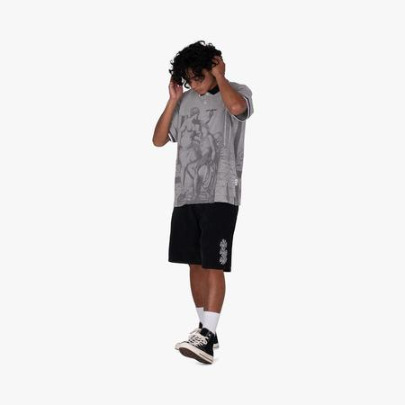 Fucking Awesome Perspective Statue Polo Shirt - gray