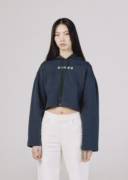 permanent vacation PV Blossom Hoodie sweater - Forest