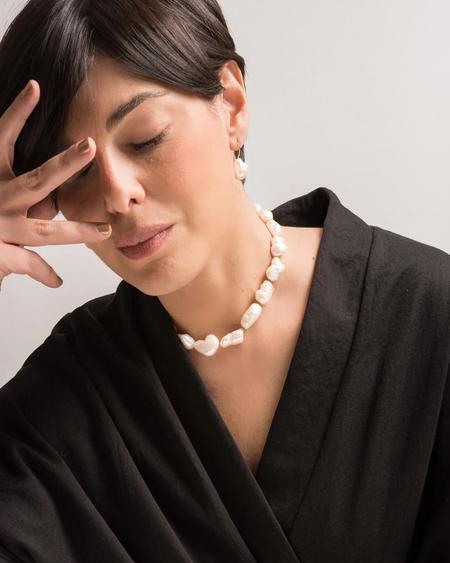Cyntia Miglio Baroque Pearl Collar Necklace