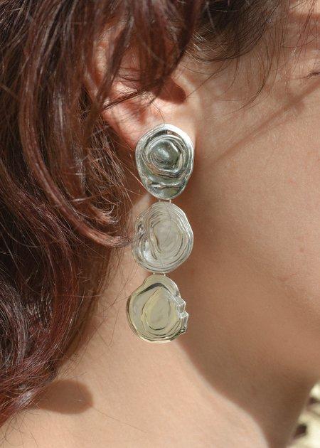 Leigh Miller On the Halfshell Earrings - Sterling Silver