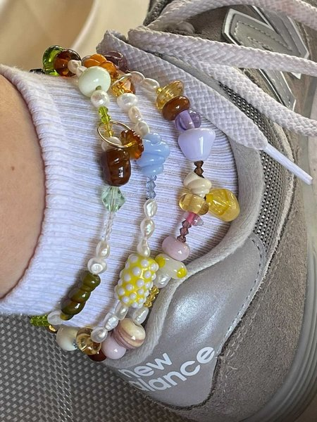 My OLLO Sunny Glass Bead Anklet
