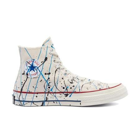 Converse Chuck 70 Archive Paint Splatter Print HI sneajers - Egret/Digital Blue/Egret