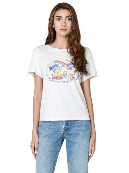 RE/DONE Classic Busiest Woman Tee - Vintage White