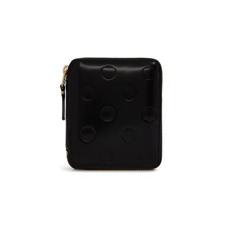 Comme Des Garçons Classic Zip Wallet - Embossed Dot Black