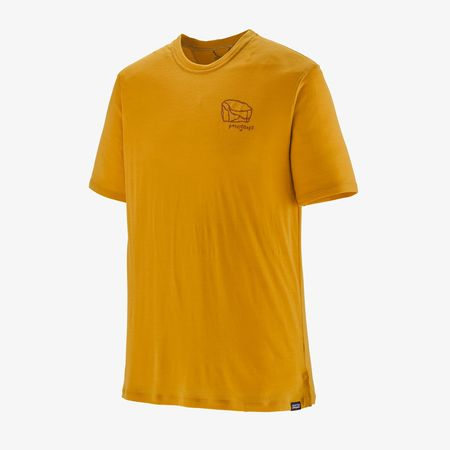 Patagonia Men's Capilene® Cool Merino Camp 4 Boulder Graphic Shirt - Hawk Gold