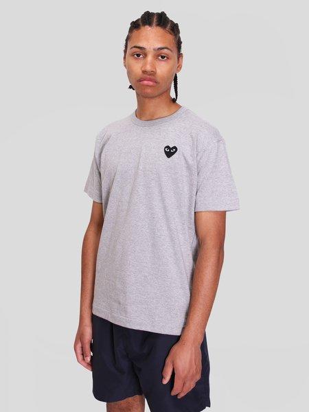 Comme des Garçons Play T-Shirt - Gray/Black Heart