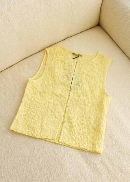 Paloma Wool Livi Smocked Vest - Pastel Yellow