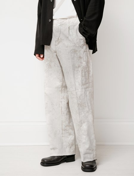 Our Legacy Borrowed Chino Coated Linen pants  - Coated White