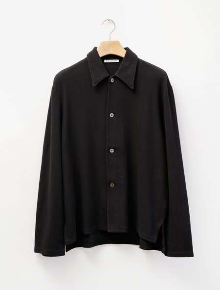 Our Legacy Waffle Rib Retreat Shirt - Black