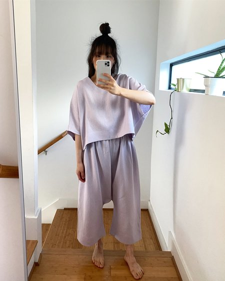 Lauren Winter Esme Linen Pant - Lavender