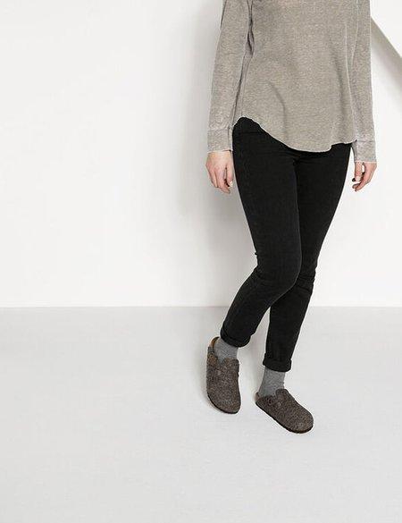 Birkenstock Boston Wool Felt Regular Sandals  - Cacoa Brown