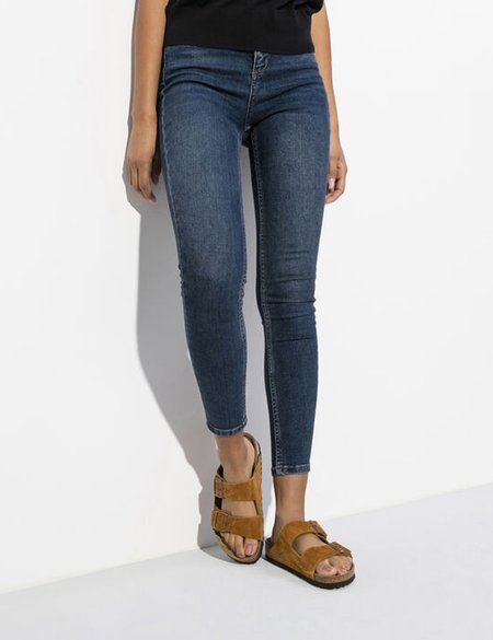 Birkenstock Arizona Suede Leather Narrow Soft Footbed - Mink