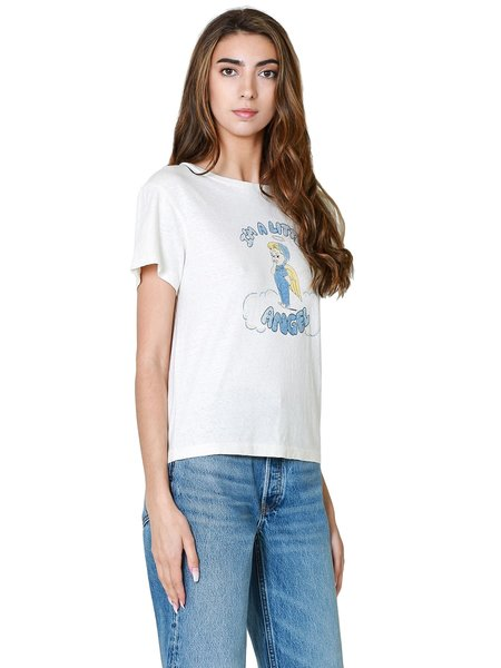 RE/DONE Classic Little Angel Tee - Vintage White