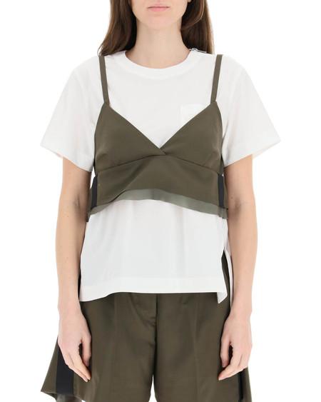 Sacai Wool Blend Top T-shirt