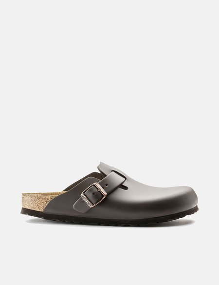 Birkenstock Boston Regular Natural Leather Sandals - Dark Brown