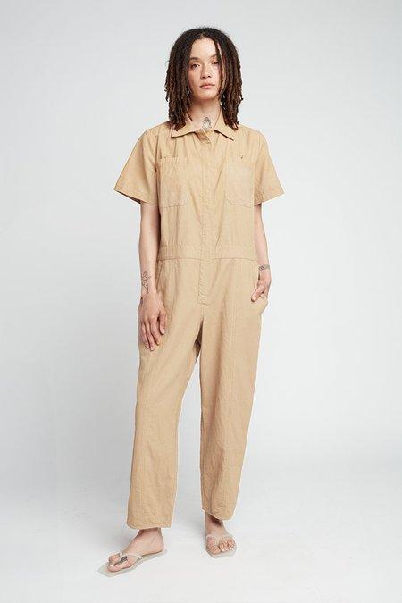 Back Beat Co. Linen Boiler Suit - Sand