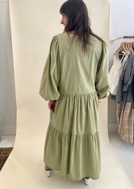 Bronze Age Cotton Daphne Dress - Navy