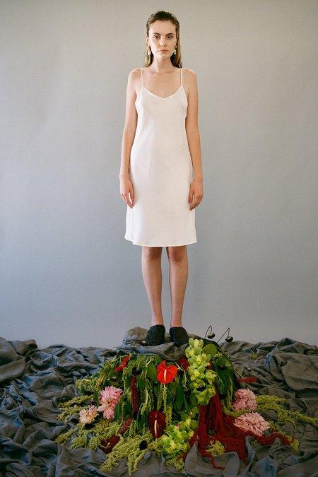 KkCo Short Silk Slip Dress - Pearl