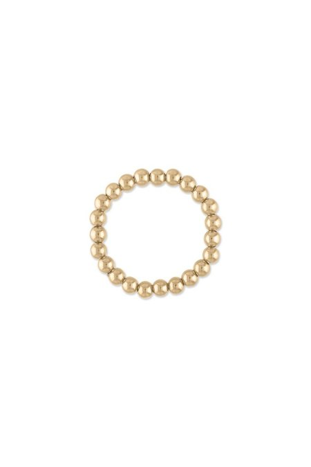 Mini Ball Ring in Gold - size 7