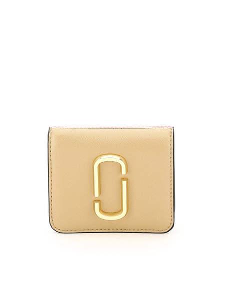 Marc Jacobs Snapshot Leather Wallet - Beige/Pink