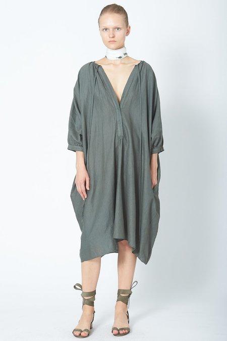KES Pull Me To The Back Linen Dress - Stripe