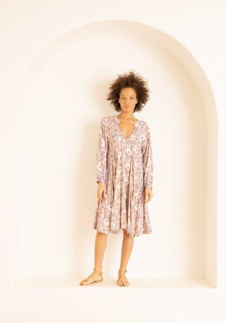 Natalie Martin Fiore Short Dress - Amethyst Vintage Flowers