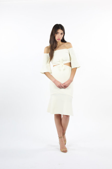 Bec & Bridge Gardenia Off Shoulder Dress - Ivory