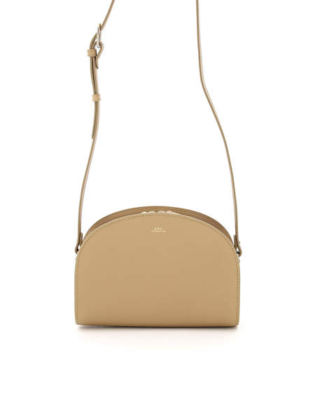 A.P.C. Demi Lune Leather Bag - Beige