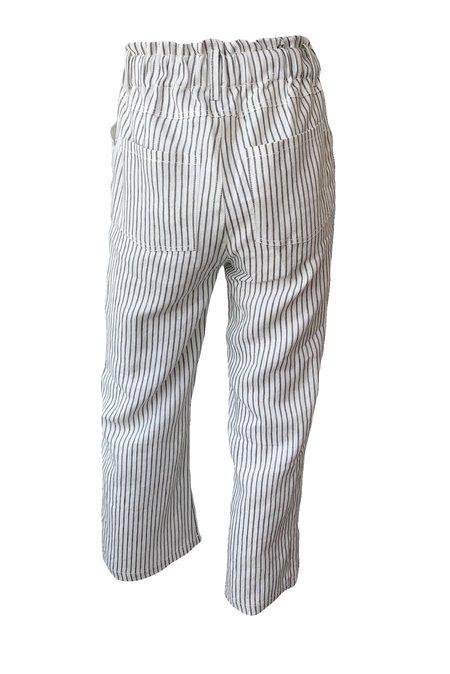 Emerson Fry Babas Striped Pants - Charcoal Stripe