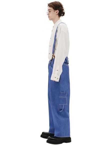 Junya Watanabe Blue Cotton Pants