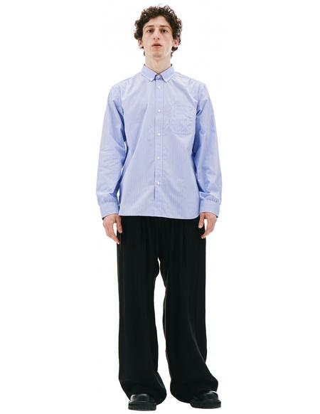 Junya Watanabe Blue Stripped Shirt