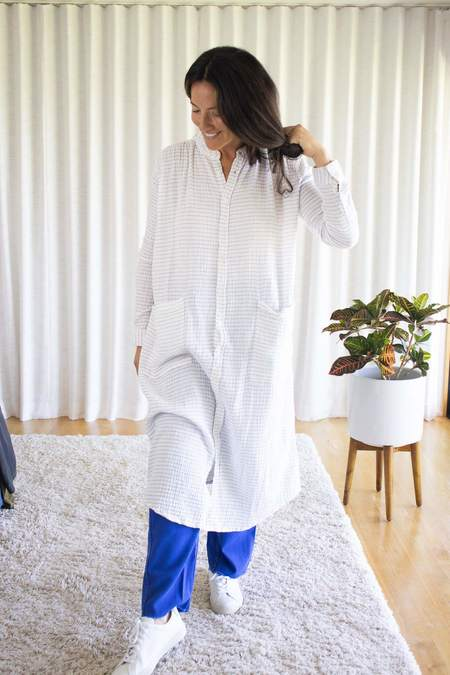 Sultan Wash Rola Crepon Faded Dress - Blanc