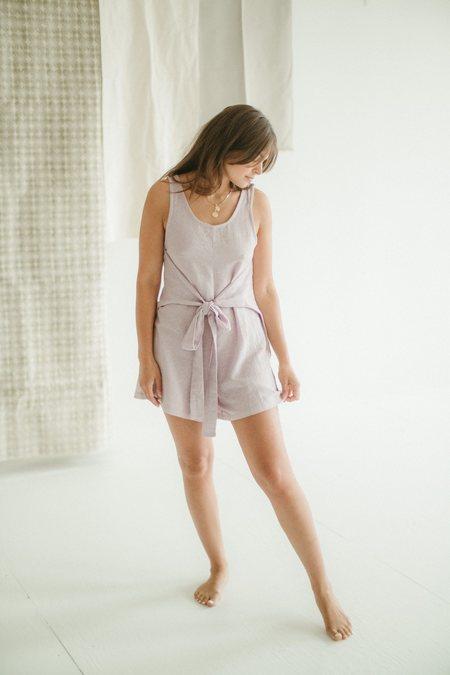 Kat Seaton The Tie Romper jumpsuit - Lilac
