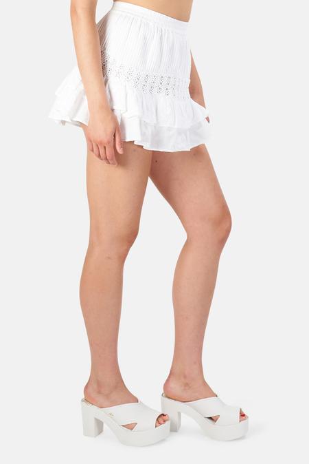 LoveShackFancy Rilo Skirt - True White