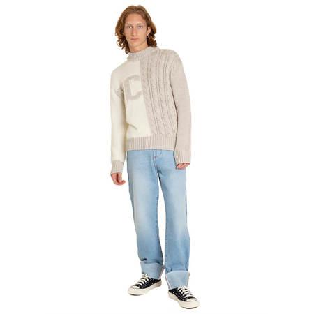 GCDS Mix Logo sweater - white