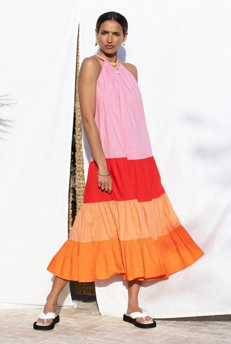NEVER FULLY DRESSED Sunrise Midi Dress - Multi