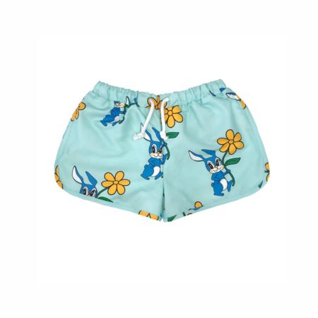 KIDS Hugo Loves Tiki Bunnies Swim Trunks - BLUE